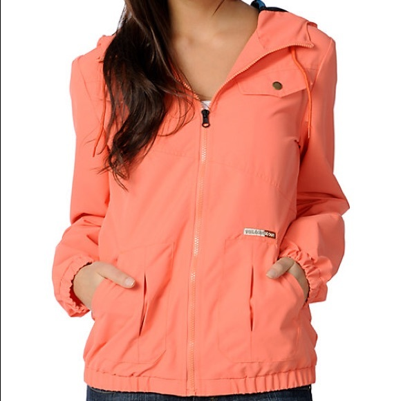 3720254e15f Volcom Enemy Lines Coral Orange Windbreaker Jacket.  M 5adcc73436b9decd04752e1a